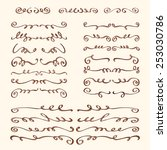 set of hand drawn design... | Shutterstock .eps vector #253030786