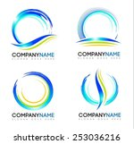 water splash logo. vector... | Shutterstock .eps vector #253036216