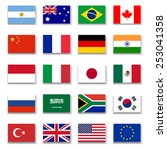 g 20 group flag collection... | Shutterstock .eps vector #253041358