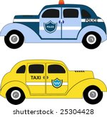 police and taxi cars | Shutterstock .eps vector #25304428