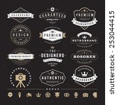 retro vintage insignias or... | Shutterstock .eps vector #253044415
