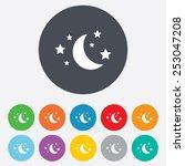moon and stars icon. sleep... | Shutterstock .eps vector #253047208