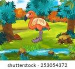cartoon scene   wild asia... | Shutterstock . vector #253054372