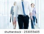 businesspeople walking in the... | Shutterstock . vector #253055605