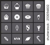 sweet icon set | Shutterstock .eps vector #253056832