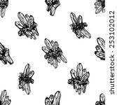 black and white crystals... | Shutterstock .eps vector #253102012