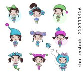 girls  characters  personages  | Shutterstock .eps vector #253111456