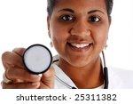 minority woman doctor on a...   Shutterstock . vector #25311382