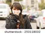 Portrait Of Young Girl Walking...