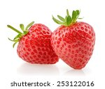 strawberry isolated on white... | Shutterstock . vector #253122016
