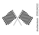 checkered flags  racing flags . ... | Shutterstock .eps vector #253124212