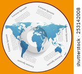 cd cover design with world map  | Shutterstock .eps vector #253142008
