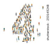 people crowd. vector figures  4 | Shutterstock .eps vector #253145248