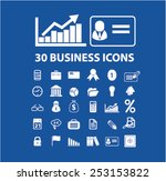 30 business  finance ... | Shutterstock .eps vector #253153822
