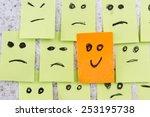 concept for a positive attitude ... | Shutterstock . vector #253195738