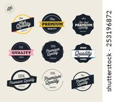 retro premium quality labels set | Shutterstock .eps vector #253196872