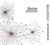 black hand drawn vector...   Shutterstock .eps vector #253207558