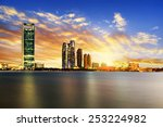 Small photo of Panorama of Abu Dhabi at night, capital of United Arab Emirates