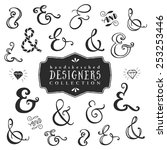 vintage decorative ampersands... | Shutterstock .eps vector #253253446
