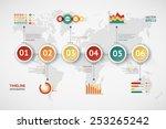 timeline vector infographic....   Shutterstock .eps vector #253265242