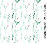 watercolor seamless pattern... | Shutterstock .eps vector #253278988