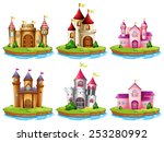 illustration of many castles on ... | Shutterstock .eps vector #253280992