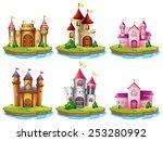illustration of many castles on ... | Shutterstock .eps vector #253280992