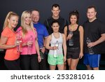 fitness group having a bottle... | Shutterstock . vector #253281016