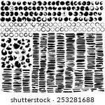 vector large set of grunge... | Shutterstock .eps vector #253281688