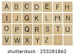 Alphabet Letters On Wooden...