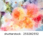geometric flowers. abstract...