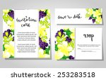 set of invitations with floral... | Shutterstock .eps vector #253283518