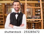 may i help you with wine... | Shutterstock . vector #253285672