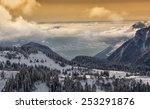 sunset in the alps   Shutterstock . vector #253291876