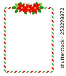 retro striped candy cane frame... | Shutterstock .eps vector #253298872