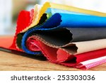Colorful Fabric Samples On...