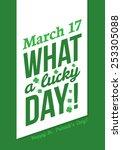 saint patrick's day  ... | Shutterstock .eps vector #253305088