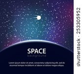 vector space background with... | Shutterstock .eps vector #253305952