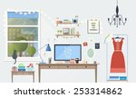 vector illustration of modern... | Shutterstock .eps vector #253314862
