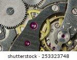 clockwork of an old mechanical... | Shutterstock . vector #253323748