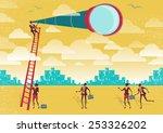 great illustration of retro... | Shutterstock . vector #253326202