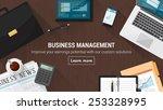 business desktop with documents ... | Shutterstock .eps vector #253328995