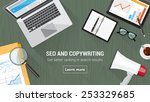 seo and copywriting concept... | Shutterstock .eps vector #253329685