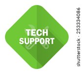 technical support flat icon   | Shutterstock . vector #253334086