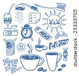morning doodles. hand drawn... | Shutterstock .eps vector #25333705