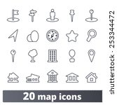 maps icons  vector set of... | Shutterstock .eps vector #253344472