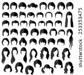 woman   man hair  vector... | Shutterstock .eps vector #253353475