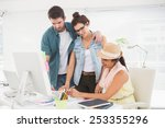 couple with colleague working... | Shutterstock . vector #253355296