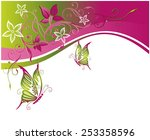 flower picture with large... | Shutterstock .eps vector #253358596