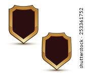 renown vector black shield... | Shutterstock .eps vector #253361752